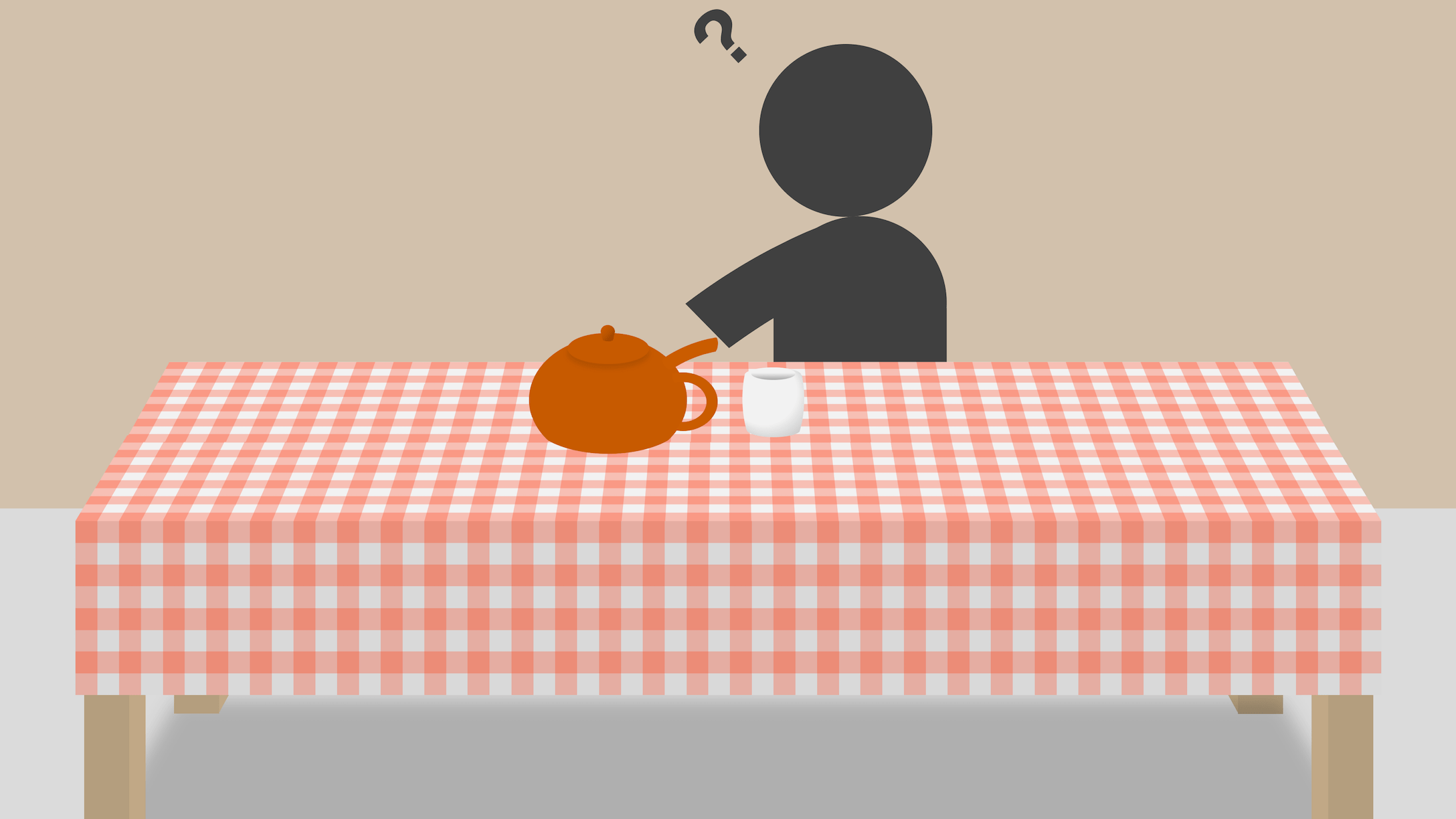 Impossible teapot on a table
