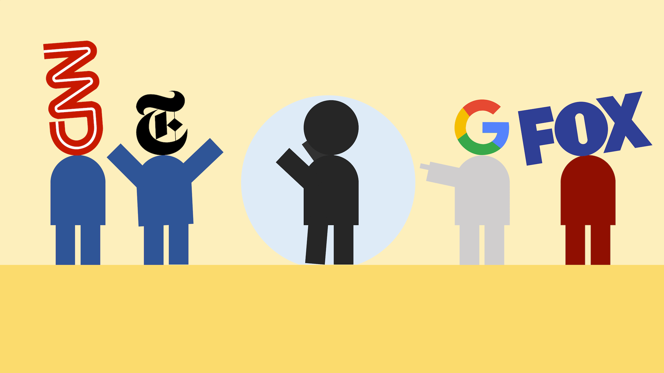 Google has the tendency to send people to the left