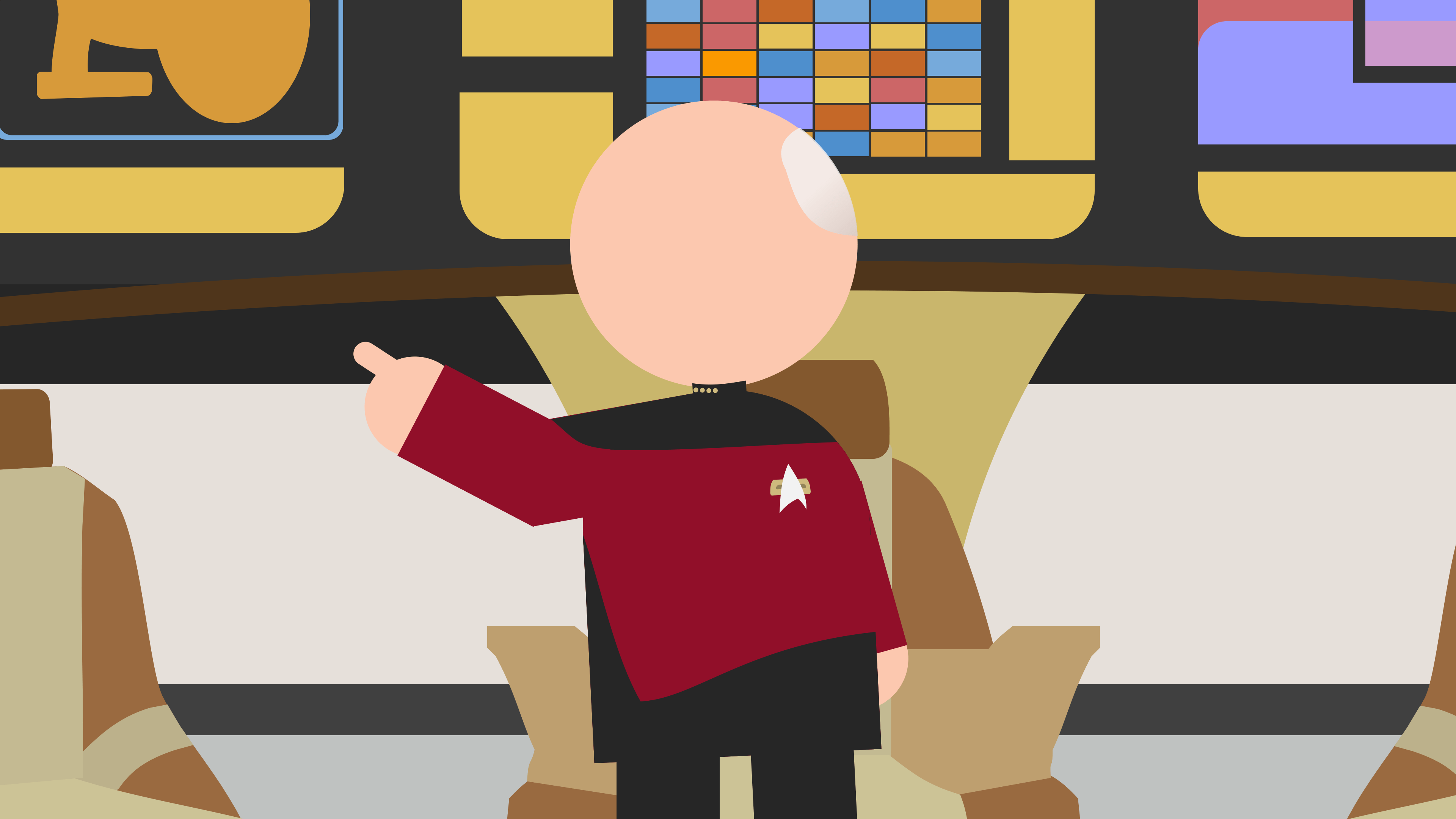 The USS Enterprise's captain Jean-Luc Picard gives an order